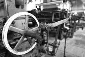 织造机剪影